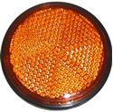 Picture of Reflector Orange Round Bolt-on Black Rim O.D 60mm