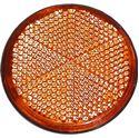 Picture of Reflector Orange Round Stick-on Black Rim O.D 60mm