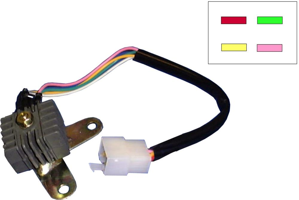 Picture Of Rectifier Honda CB100N 4 Wires Red Pink Green Yellow