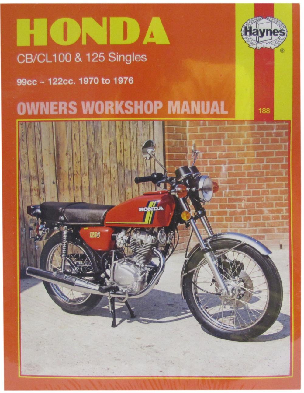 Workshop Manual Honda Cb100  Cl100  Sl100  Cb125s  Cb125j